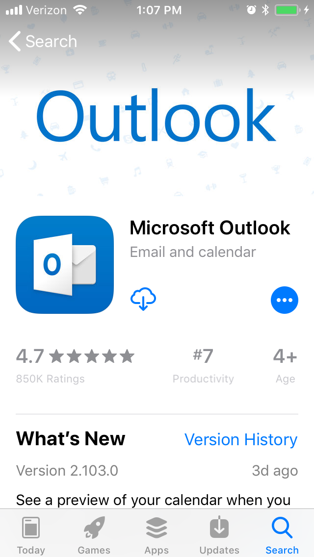 outlook app download all emails